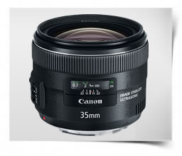 Canon EF 35mm f/2.0 IS USM Lens For Wedding Photography